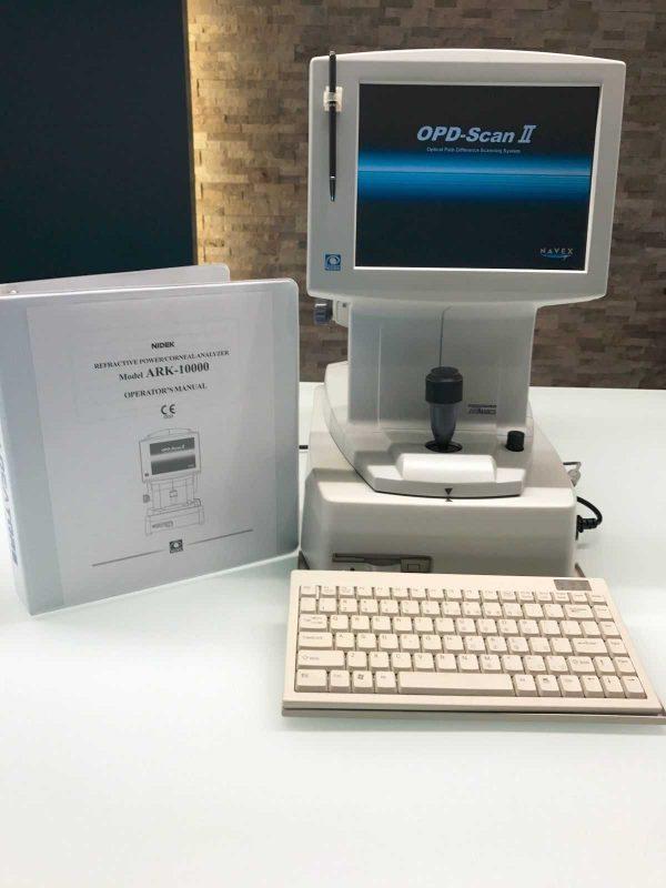 Nidek OPD-Scan II ARK 10000 Autorefractor Topographer